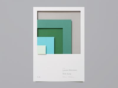 Designer Fund Bridge Speaker Series Poster No. 3 startup photography 3d paper design poster