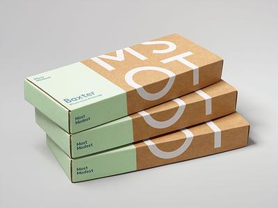 Most Modest — Baxter Packaging industrial design logo identity branding packaging