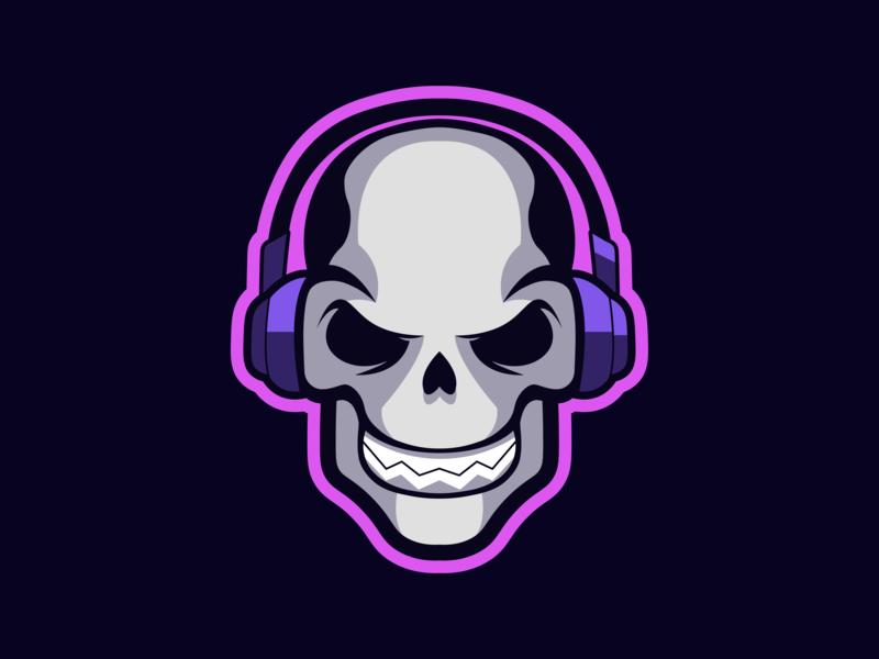Skull Mascot Logo by Matt Kuks on Dribbble