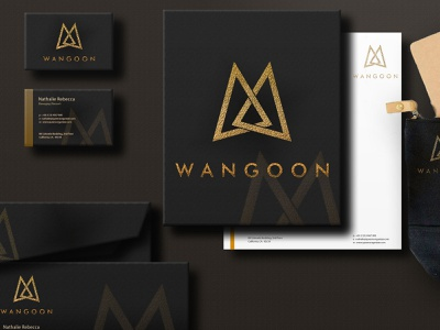 Wangoon Luxury logo design for sale modern monogram logo company monogram logo design branding minimal flat design logo vector