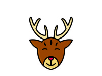 deer Chistmas Icon