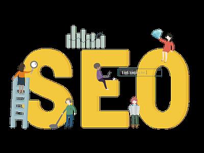 SEO Illustration design icon vector illustration