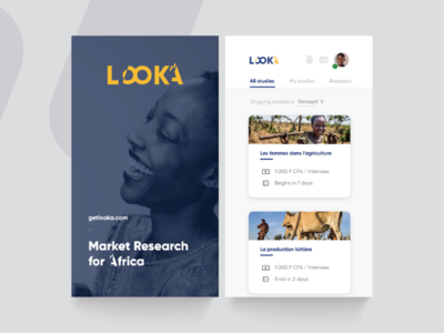 LOOKA - Market Research App UX-UI data visualisation surveyors study market research data collection mobile app ui ux