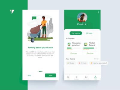Farming App UX -UI Design africa agritech sustainabledevelopment ui ux farming