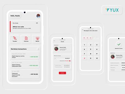Neumorphic Mobile Money App moneytransfer fintech uidesign africa ux designer