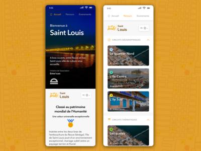 Touki Saint Louis tourism app saint-louis yux africa senegal tourism travel ux ux-ui ui uidesign