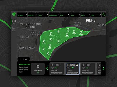Firefly Map Dashboard UX-UI telecom transport design map datavisualisation dataviz ux ui design ux firefly yux