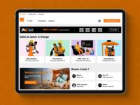 Orange Sénégal Website UX-UI