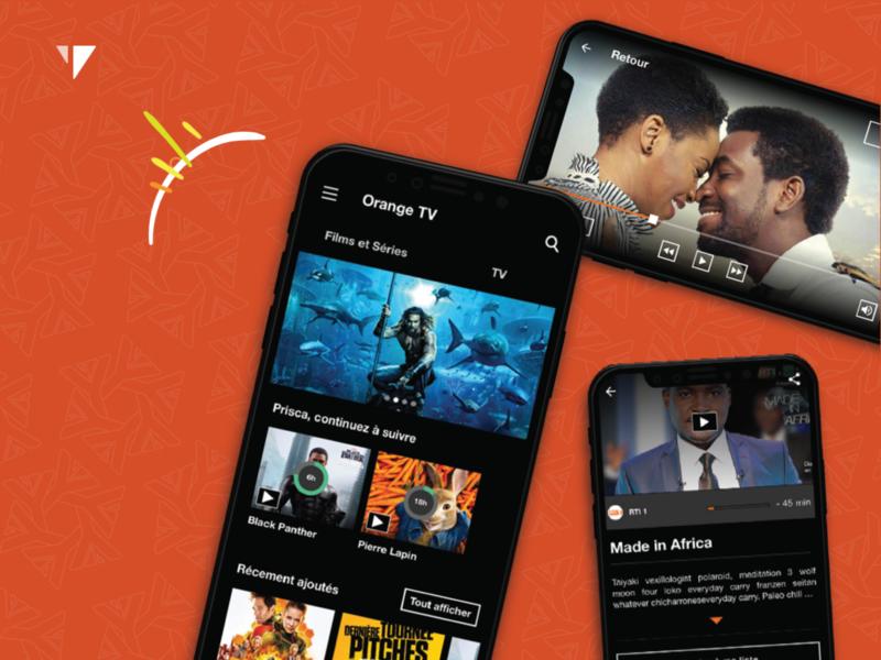 Orange TV Côte d'Ivoire UX-UI Design orange cote divoire netflix tv ui telecom uidesign ux-ui senegal africa yux ux