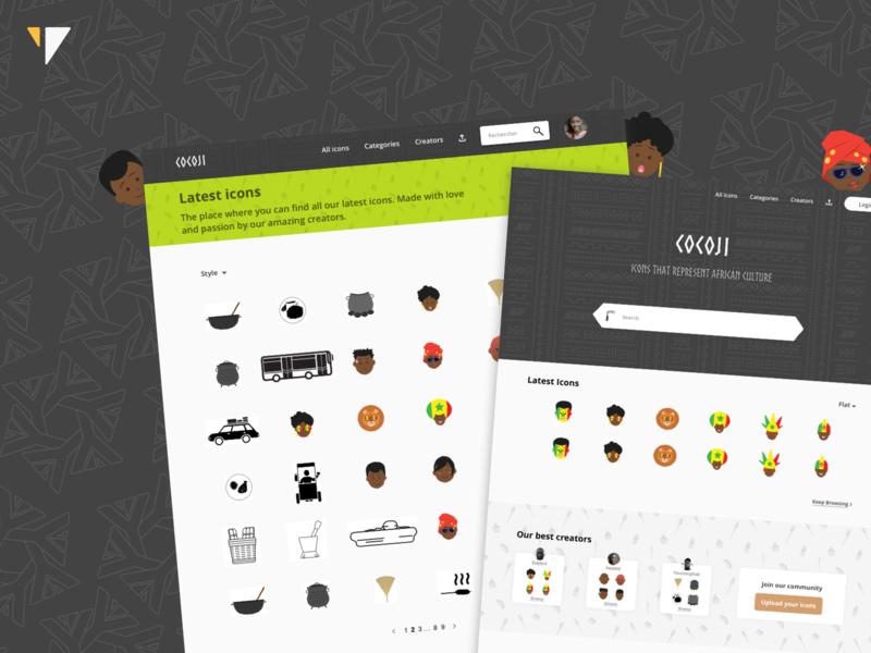 Cocoji.co UX-UI Design informaleconomy football food smiley emoticons emojis iconography icon typography logo illustration ui design ux-ui uidesign senegal africa yux ux cocoji