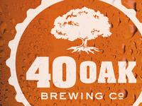 40 Oak logo on pint glass