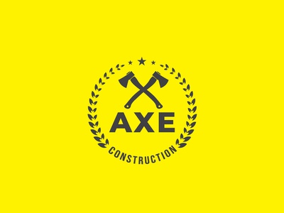 AXE CONSTRUCTION LOGO lettering web clean identity icon typography brand logo illustrator minimal animation guard design website vector modern logo design logo design illustration branding graphic design