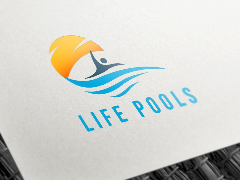 Life Pools logo lettering web clean icon identity typography brand logo illustrator minimal animation guard design website vector modern logo design logo design illustration branding graphic design