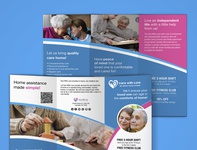 Tri fold brochure free mockup