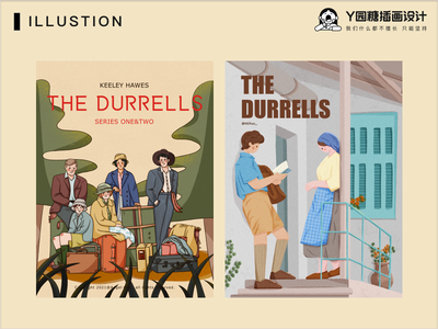 THE DURRELLS boy ui flower girl love life design illustration