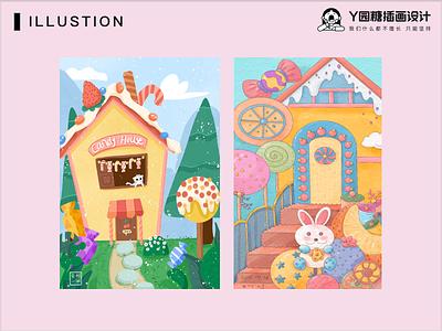 CANDY HOUSE flower love girl life design illustration