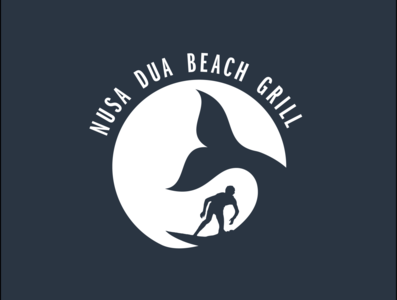 Logo Design for Beach Grill branding surfing vector illustrator graphic design logotype logos logo design logo