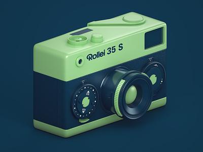 Rollei 35 S rollei camera retro c4dart 60s illustration 3dmodelling 3drender 3d render cinema4d c4d