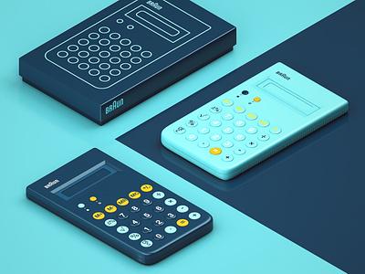 Braunt ET66 Calculator c4dart minimalist minimal minimalism 80s calculator dieterrams productdesign digital illustration 3dart 3dmodelling 3drender render cinema4d c4d
