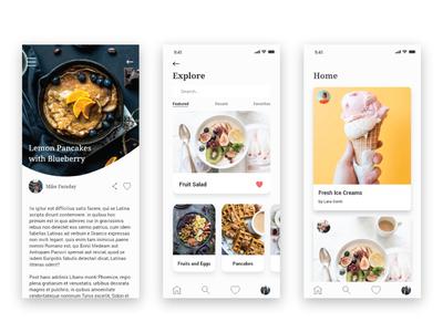 Food Blogging App
