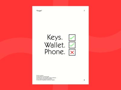 Keys, Wallet, Phone.