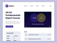 Video Player Design - Learning Platform