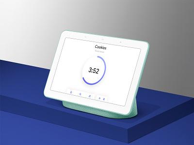 Countdown Timer - Daily UI 014 smarthome concept redesign countdown timer timer countdown smart display hub google home blue user interface ux minimal simple ui sketch mockup design dailyui014 dailyui