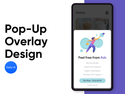 Pop-Up Overlay Design - Daily UI 016