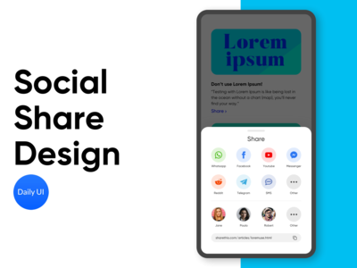 Social Share Design V2 - Daily UI 020