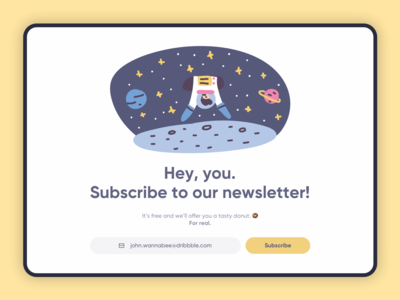 Subscribe Design - Daily UI 026