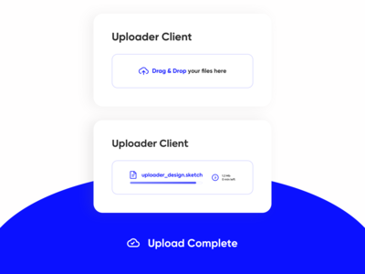 Uploader Client Design - Daily UI 031