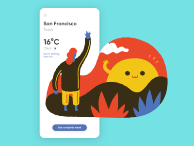 Weather Design - Daily UI 037