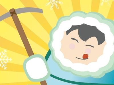 Eskimo Illustration adobe illustrator logo