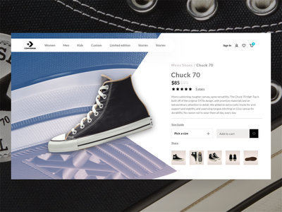 Converse Product Page 2020 product converse sport sneakers shop branding page adobe figma adobe xd design ui