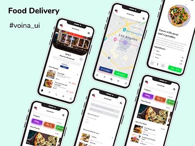 Food Delivery App Challenge illustration app design delivery foodapp app fooddelivery 2020 colors uidesign adobe adobe xd design ui