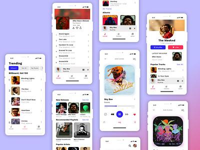 Music App UI musician tracks songs album cover album singer music musicapp 2020 colors uidesign figma app adobe xd design ui