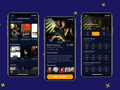 Movie Tickets App ux 2020 figmadesign adobe figma colors uidesign app ui design