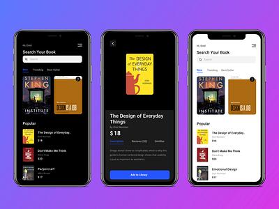 Ebook Store App Design books cover ebooks bookstore figmadesign 2020 figma colors uidesign ios ui app design