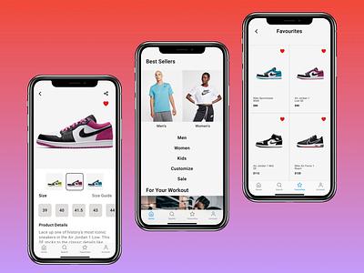Nike Shop App Redesign pop app ui popular shot popular popular design ux figmadesign 2020 colors uidesign ios figma app ui design