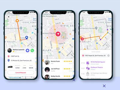 Taxi App Concepts driver taxi taxi app figmadesign 2020 figma uidesign app design
