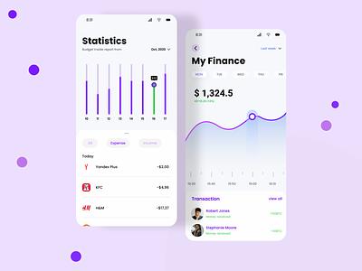 Finance App finance app wallet 2020 figmadesign ios figma colors uidesign ui app design