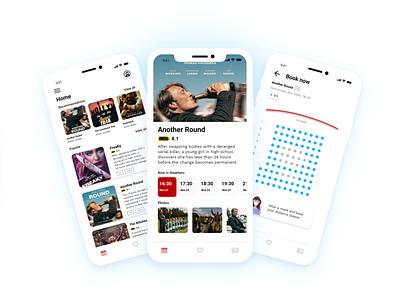 Cinema Tickets App cinema tickets 2020 adobe adobe xd ios colors figma app uidesign ui design