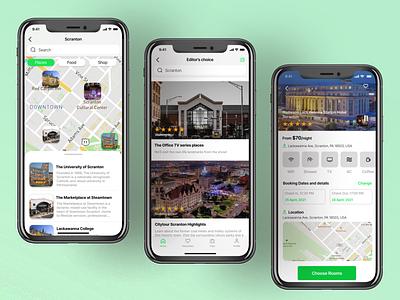 Trip Finding App Screens booking hotels trip planner travel ios figma uidesign app ui design