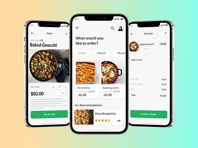 Italian Food Order App colors ios figma design uidesign foods deliveryapp orderapp app foodorder foodapp ui