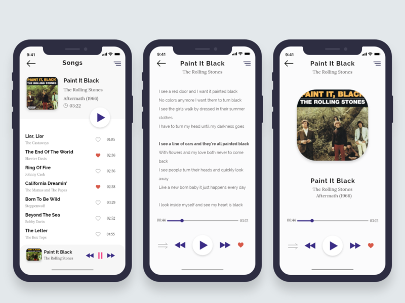 Music Player with lyrics colors uidesign app music album lyrics audio social ios music art appdesign music app music player design adobe xd ui