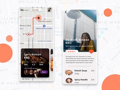 Food Find Screens icon foodapp foodie cards free iphone food figmadesign colors uidesign page ios app figma design ui