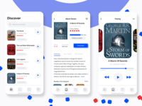 Audio Books App Screens