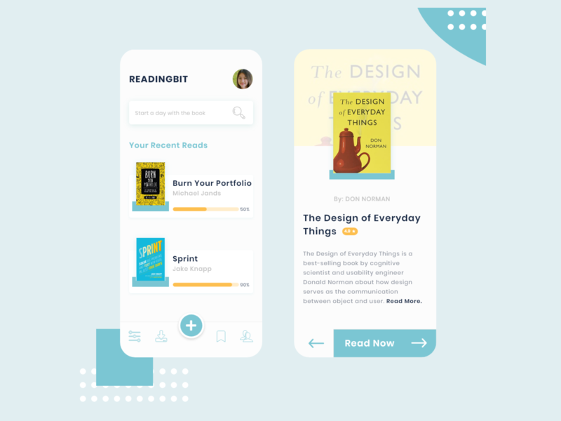 Readingbit: Make Reading your habit branding animation graphicsdesign illustrator uidesign uxdesign behance website ux appdesign
