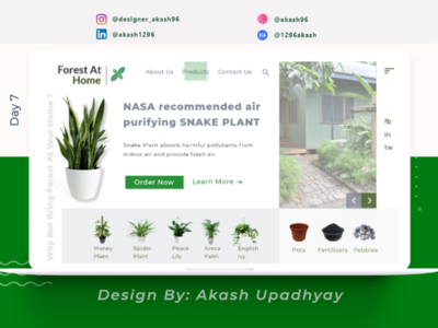 Forest At Home: Y not bring forest at your home...?