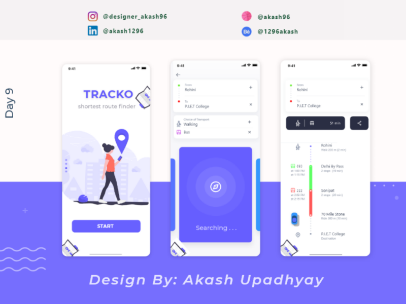 TRACKO: finding shortest route for you to reach your destination website uxdesign ux uidesign ui typography illustrator illustration graphicsdesign graphics flat dribbble designer design colors branding behance appdesign app animation